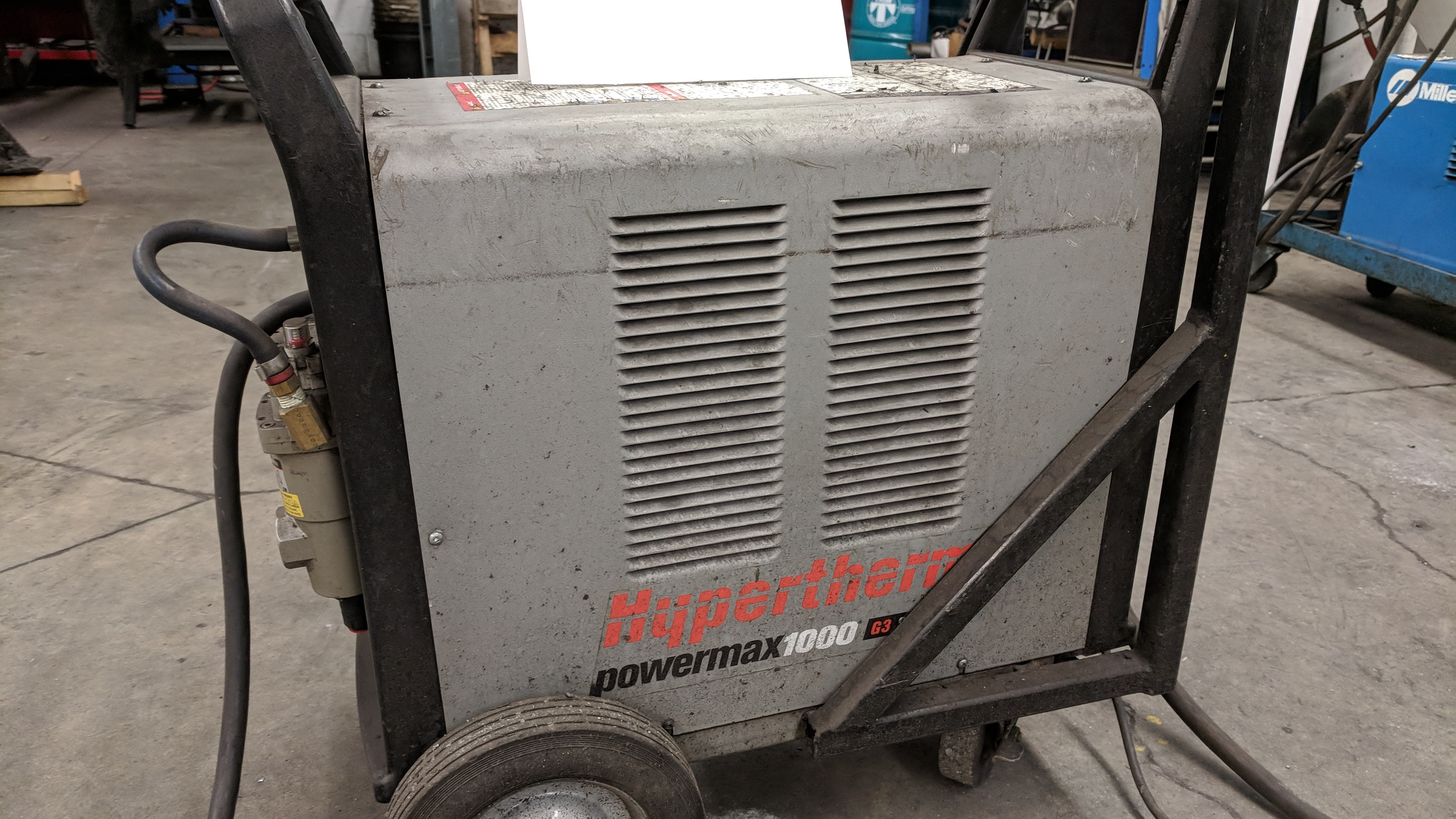 HYPERTHERM POWERMAX 1000 G3 SERIES PORTABLE PLASMA CUTTER WITH CABLES AND GUN, S/N N/A - Image 3 of 4