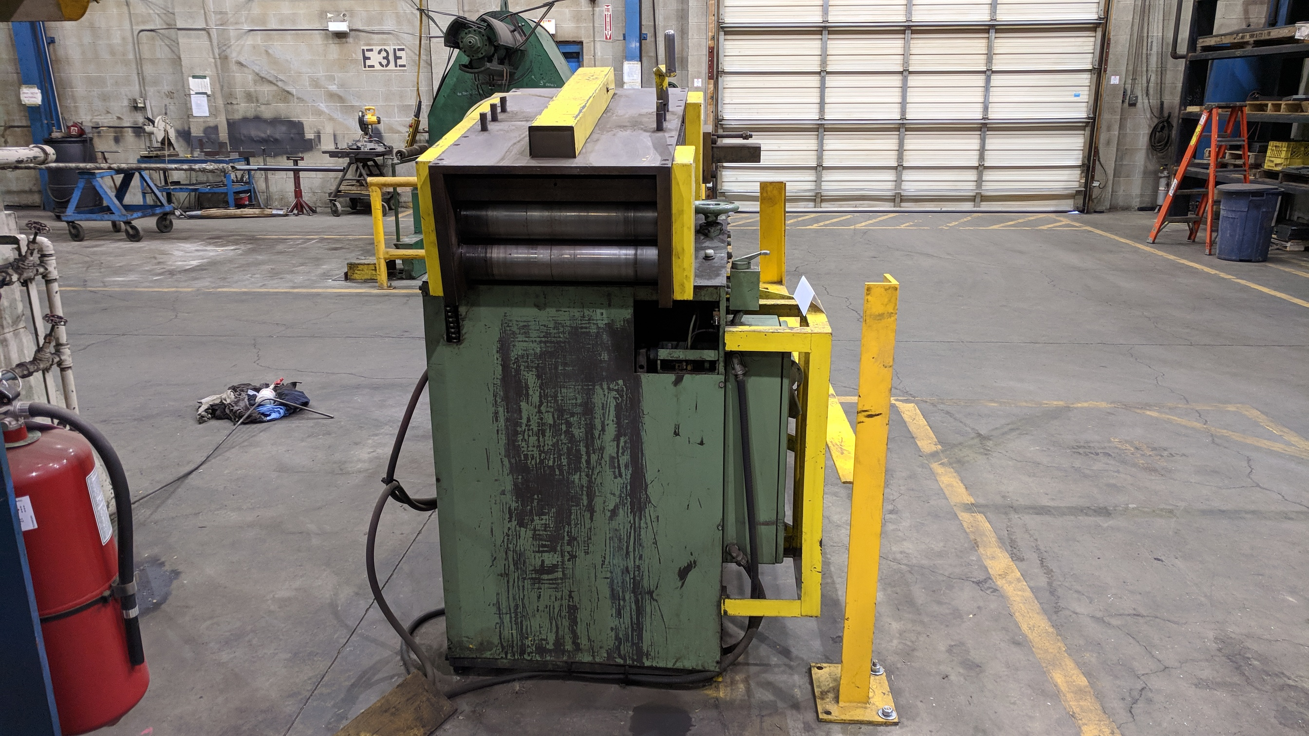 "MFG UNKNOWN 18"" UNCOILER WITH STRAIGHTENER-FEEDER, S/N N/A (CI) - Image 6 of 6"