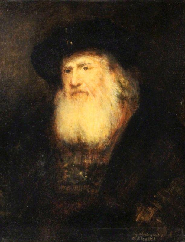 MAZANKI W20Jh Alter Mann mit Bart Kopie nach Rembrandt l