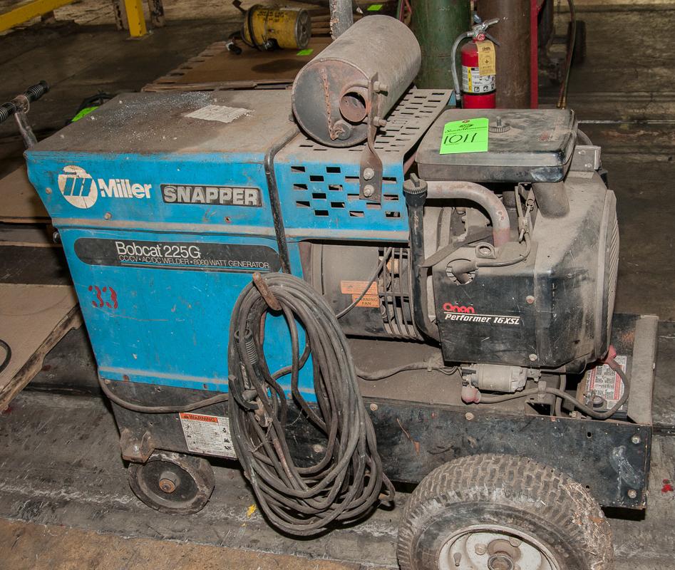 miller bobcat 225g cc  cv ac  dc welder  8000 watt generator  s  n ka879304  120  240 volt  70  35 amp