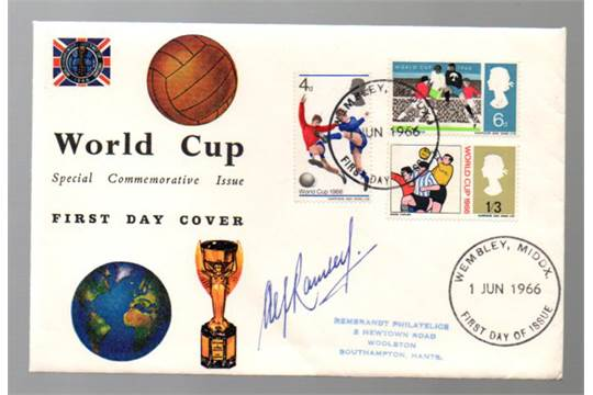 Football First Day Cover England World Cup  Winners First Day Cover Dated St June  Sign