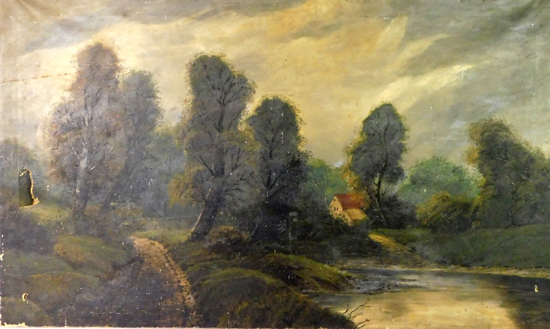 Lot 8 - A Bingham (19thC). Rural landscape, oil on canvas, signed and dated 1908 or 9, 76cm x 128cm.