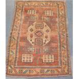 A Kazak Karochoff rug, 222cm x 152cm (AF).