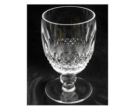 A Waterford crystal wine/ale glass 5.125in tall, no faults