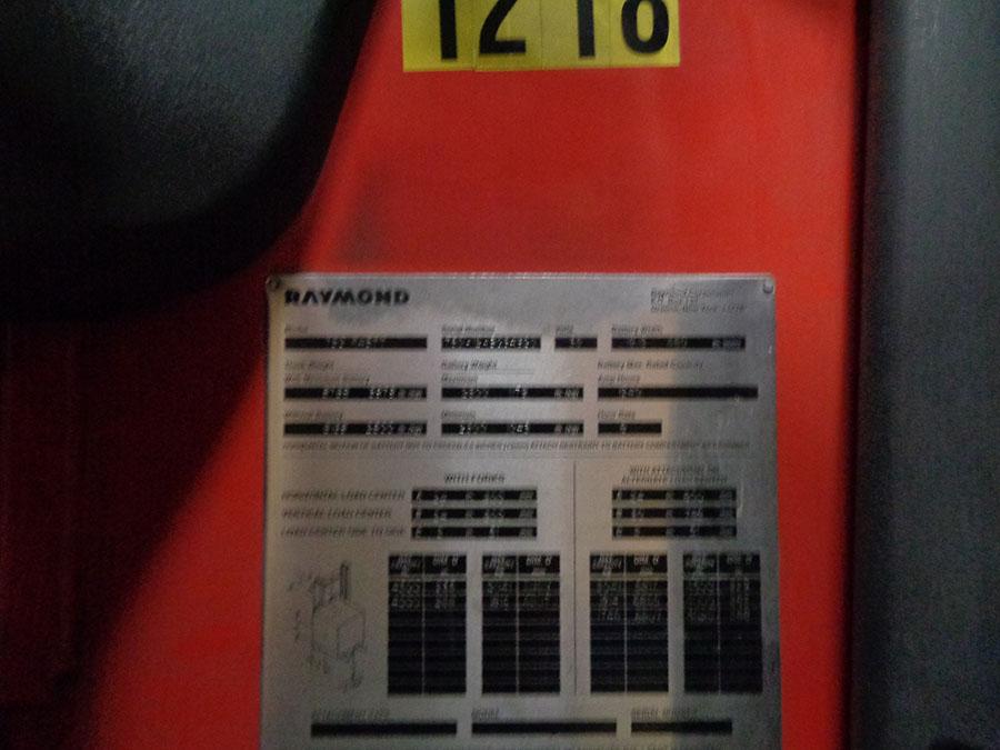 Lot 57 - 2012 RAYMOND 4,500 LB. REACH TRUCK; 36-VOLT, MODEL 750-R45TT, S/N 750-12-BC34920, RUNS & OPERATES