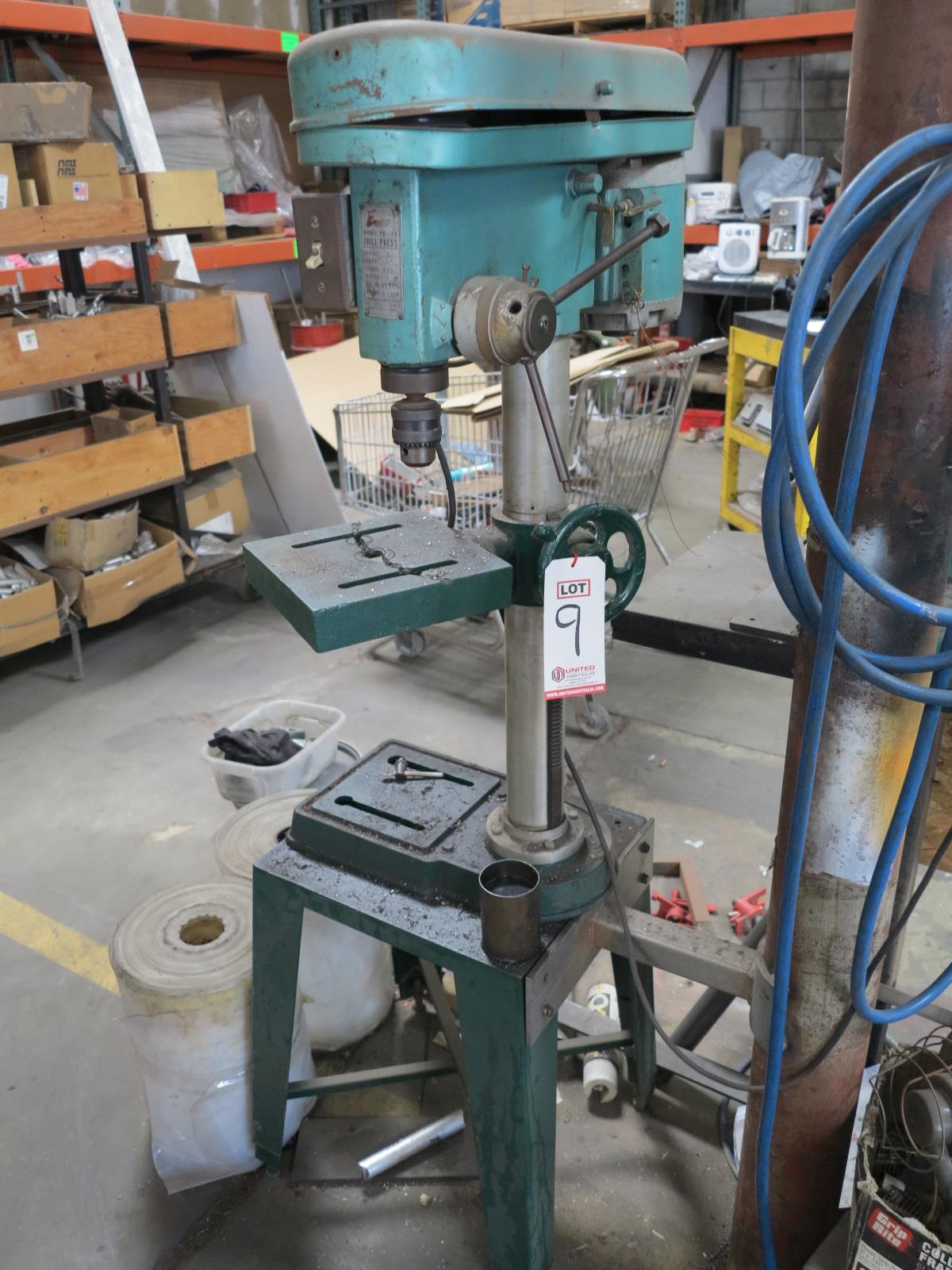 EMCO DRILL PRESS, MODEL PD-13, 5-SPEED, W/ STAND