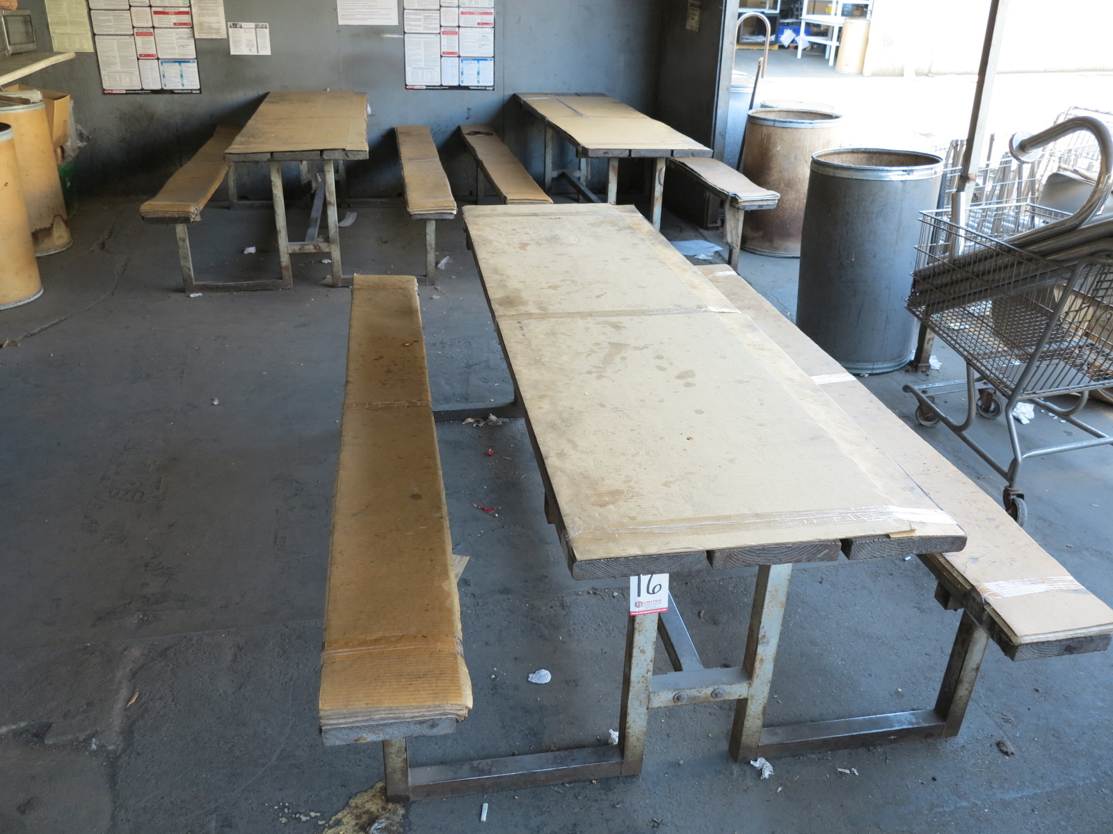 Lot 16 - LOT - (3) PICNIC TABLES