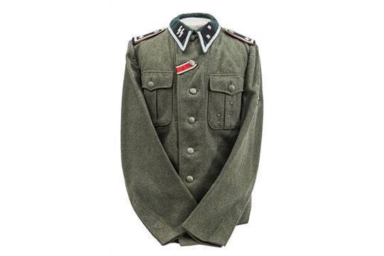 A very scarce Third Reich Waffen SS M36 tunic Oberscharfuhrer or ...