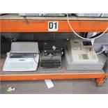 1 x Brother AX-425, 1 x Olympia typewriter, 1 x Sharp ER-A250 electronic cash register (3)