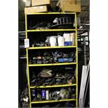 CABINET W/ CONTENTS TO INCLUDE: AIR HOSES, FILTERS, ELECTRICAL MOTOR, ETC.