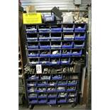 HARDWARE CADDY W/ APPROX (50) REMOVABLE BINS OF MISC HARDWARE