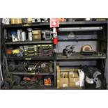 CABINET W/ CONTENTS TO INCLUDE: INSUL-FUSER CD PIN WELDER, ELECTRICAL FANS, BENCH GRINDER,