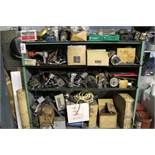 CABINET W/ ASSORTED AIR TOOLS, PNEUMATIC DRILLS, STAPLERS, ETC.