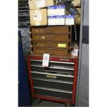 CABINET W/ CONTENTS TO INCLUDE: O-RINGS, CRAFTSMAN TOOL BOX W/ CONTENTS, NSK BEARINGS, PRESSURE