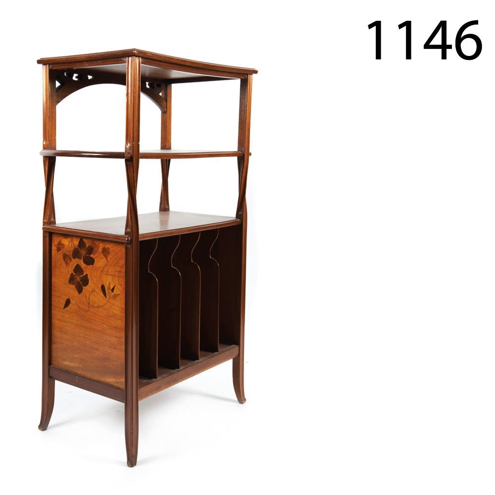 Mahogany Wood Art Nouveau Music Cupboard Signed C Gauthier Nancy  # Muebles Directo Cee