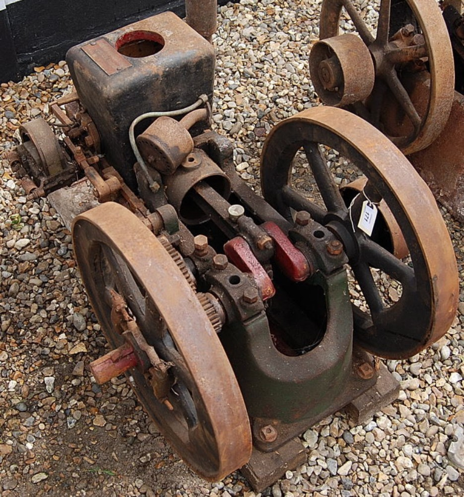 Bradford gas engine co open crank stationary engine 2741 for Stationary motors for sale