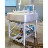 APV Crepaco Liquiverter, approximately 25 gallon, Serial # E-4879. Mounted on (4) stainless steel