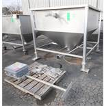 """RMF 6 ft W x 6 ft L x 58"""" D S/S Feed Hopper, Model CT600, SN 32724, with 6"""" Clamp Type Discharge,"""