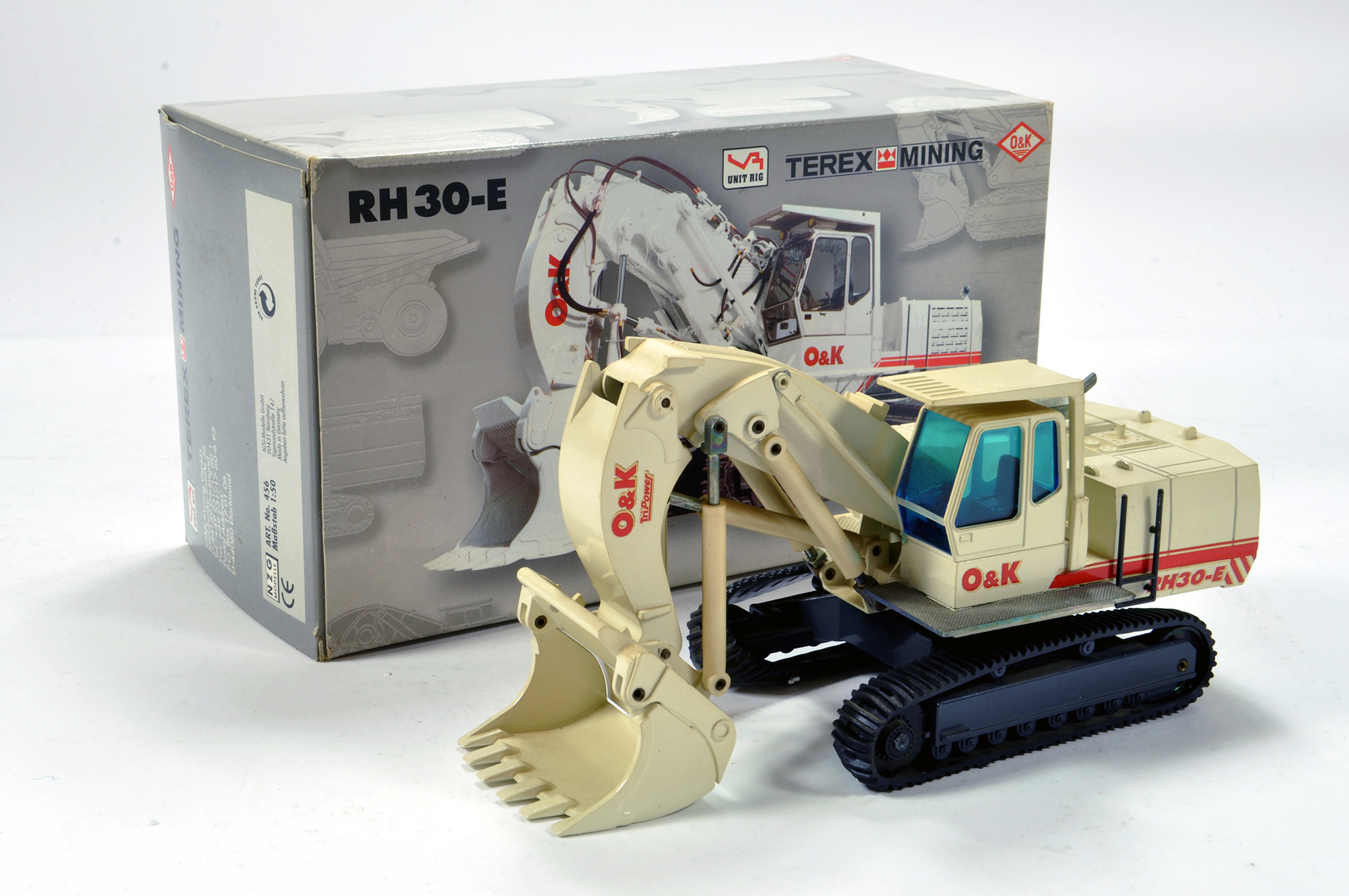 Lot 341 - NZG 1/50 construction issue comprising O&K RH30-E Excavator. Generally E to NM.