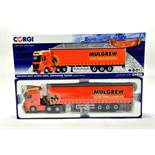 Corgi 1/50 diecast truck issue comprising No. CC15806 Mercedes Actros Curtainside in livery of