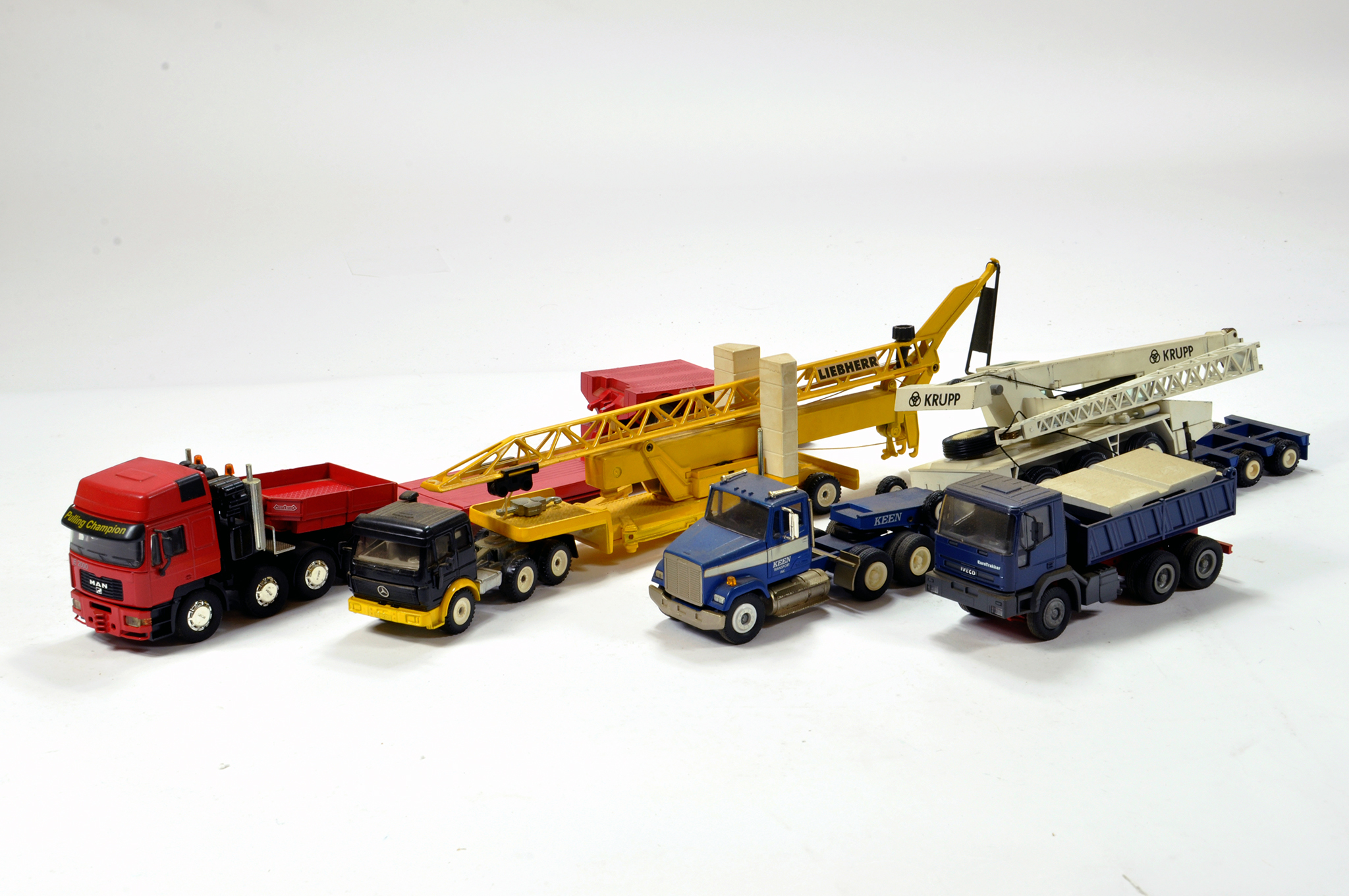 Lot 360 - Assortment of mainly 1/50 construction and truck diecast issues from various makers. Conrad, NZG