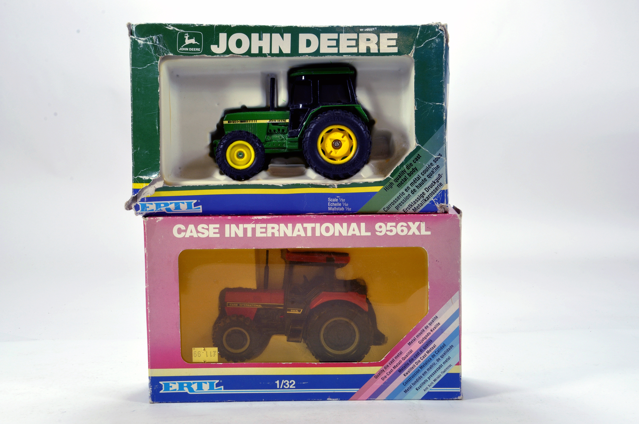 Lot 500 - Ertl 1/32 Farm Issues comprising John Deere 3140 Tractor and Case IH 956XL. Generally E to NM in