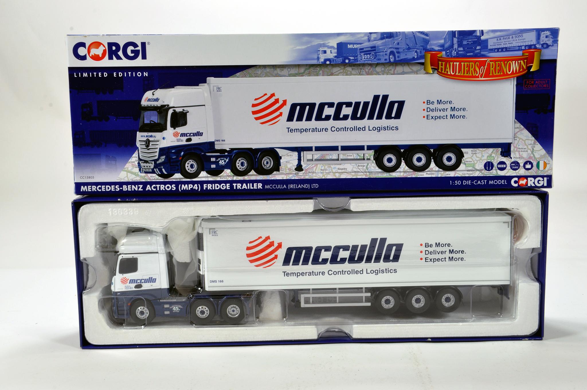 Lot 37 - Corgi 1/50 diecast truck issue comprising No. CC15805 Mercdes Benz Actros Fridge Trailer in livery