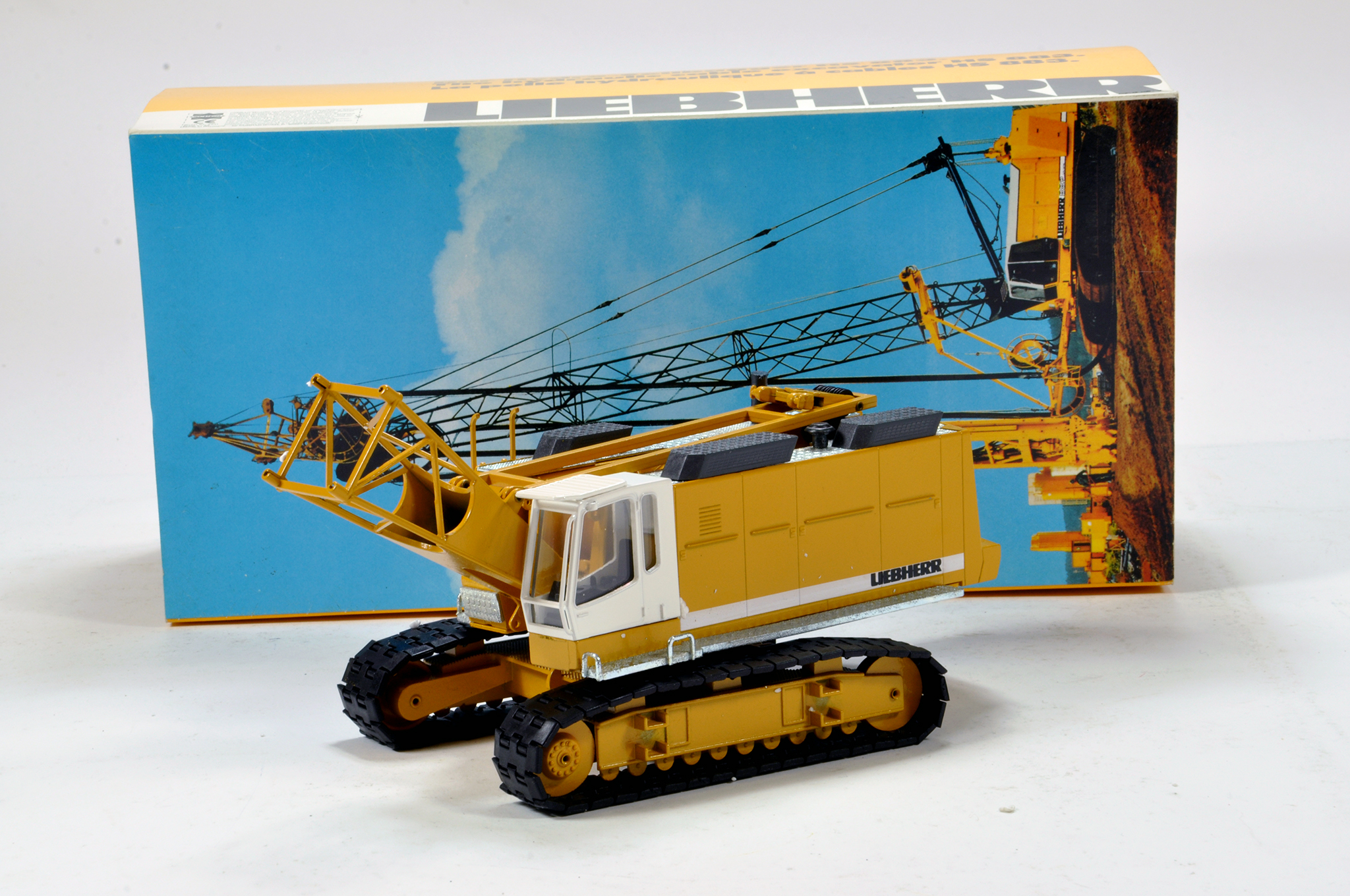 Lot 323 - NZG 1/50 construction issue comprising Liebherr Tracked Drilling Machine. Generally E to NM.