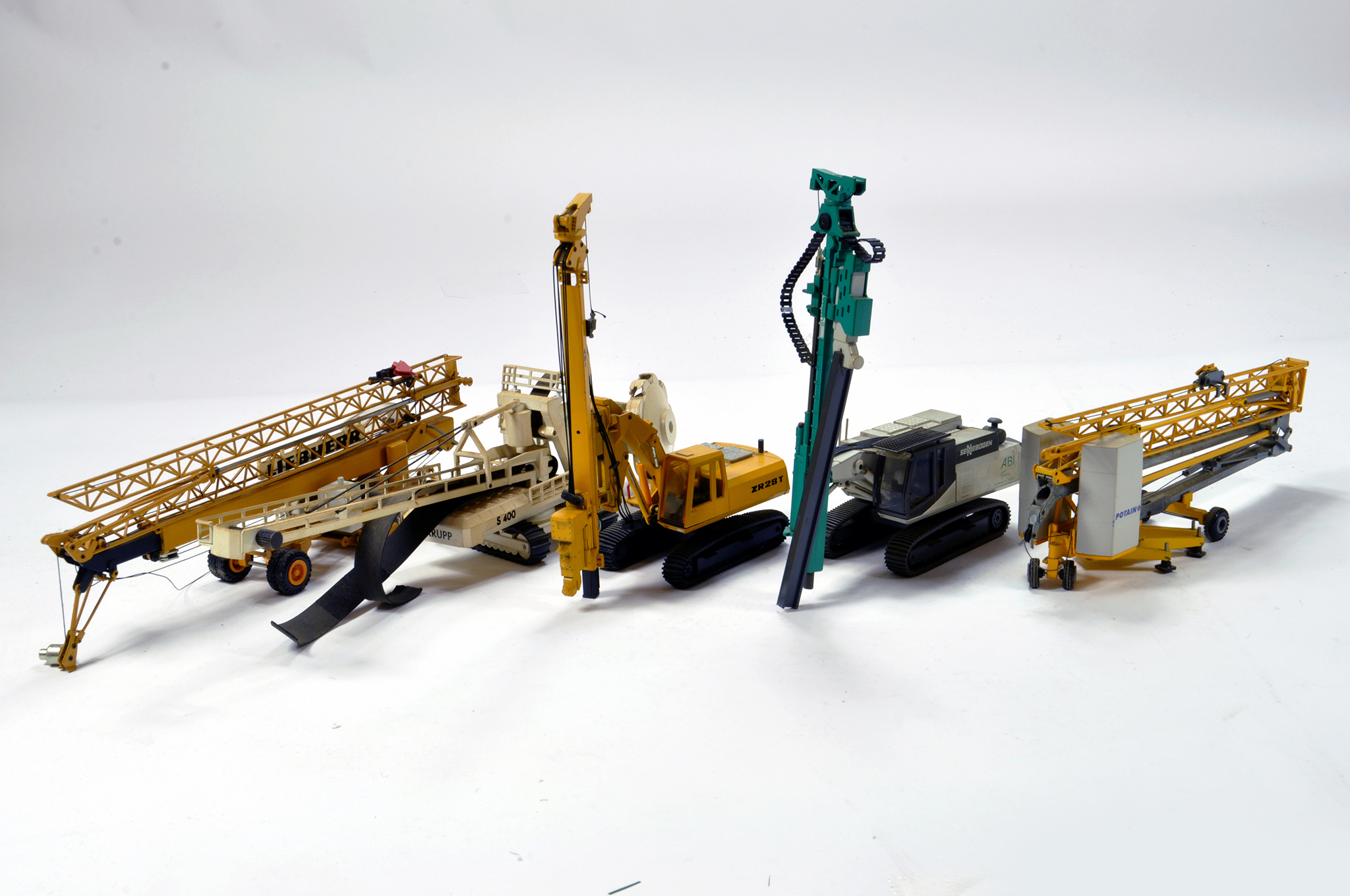 Lot 359 - Assortment of mainly 1/50 construction diecast issues from various makers. Conrad, NZG etc.