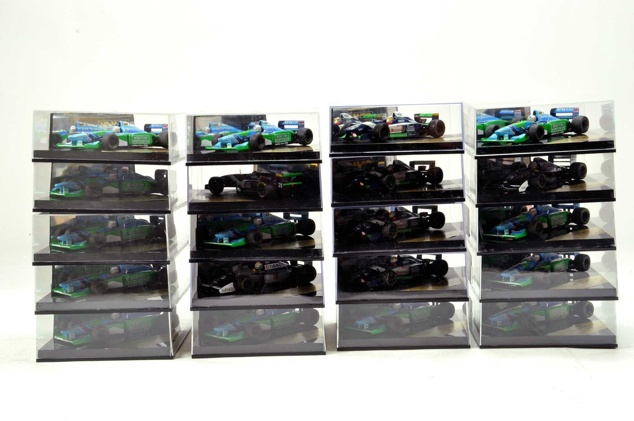 Lot 1757 - Large assortment of Onyx Diecast Formula One Issues. E to nM in Boxes.