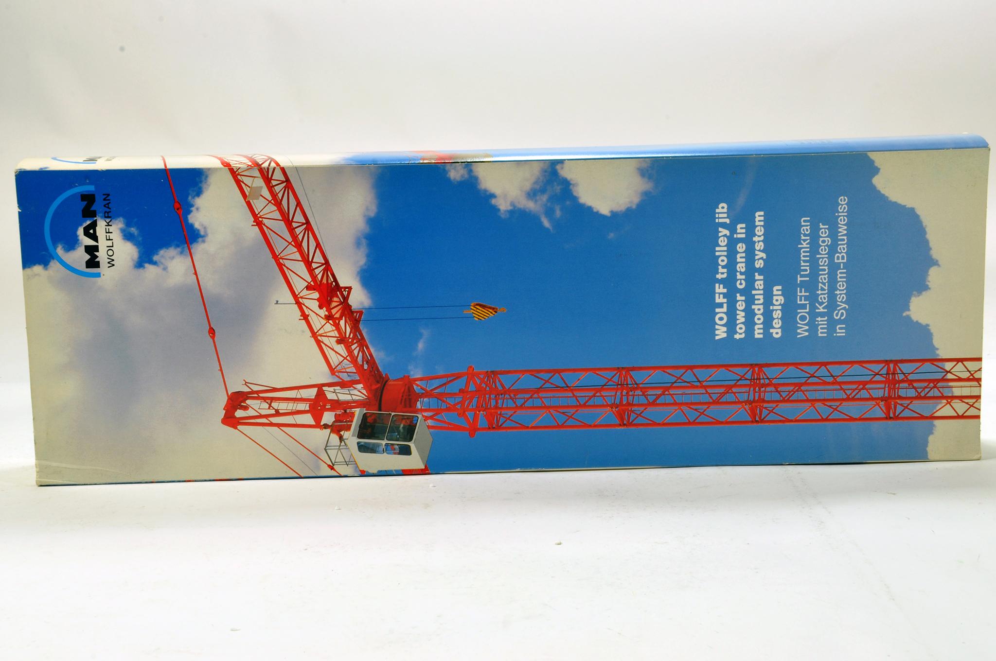 Lot 318 - Conrad 1/87 Construction issue comprising MAN Wolffkran Tower Crane. Generally E to NM.