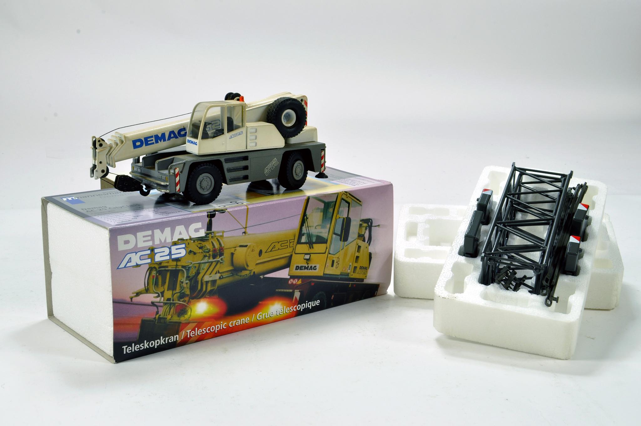 Lot 343 - Conrad 1/50 construction issue comprising Demag AC25 Mobile Crane. E to NM.