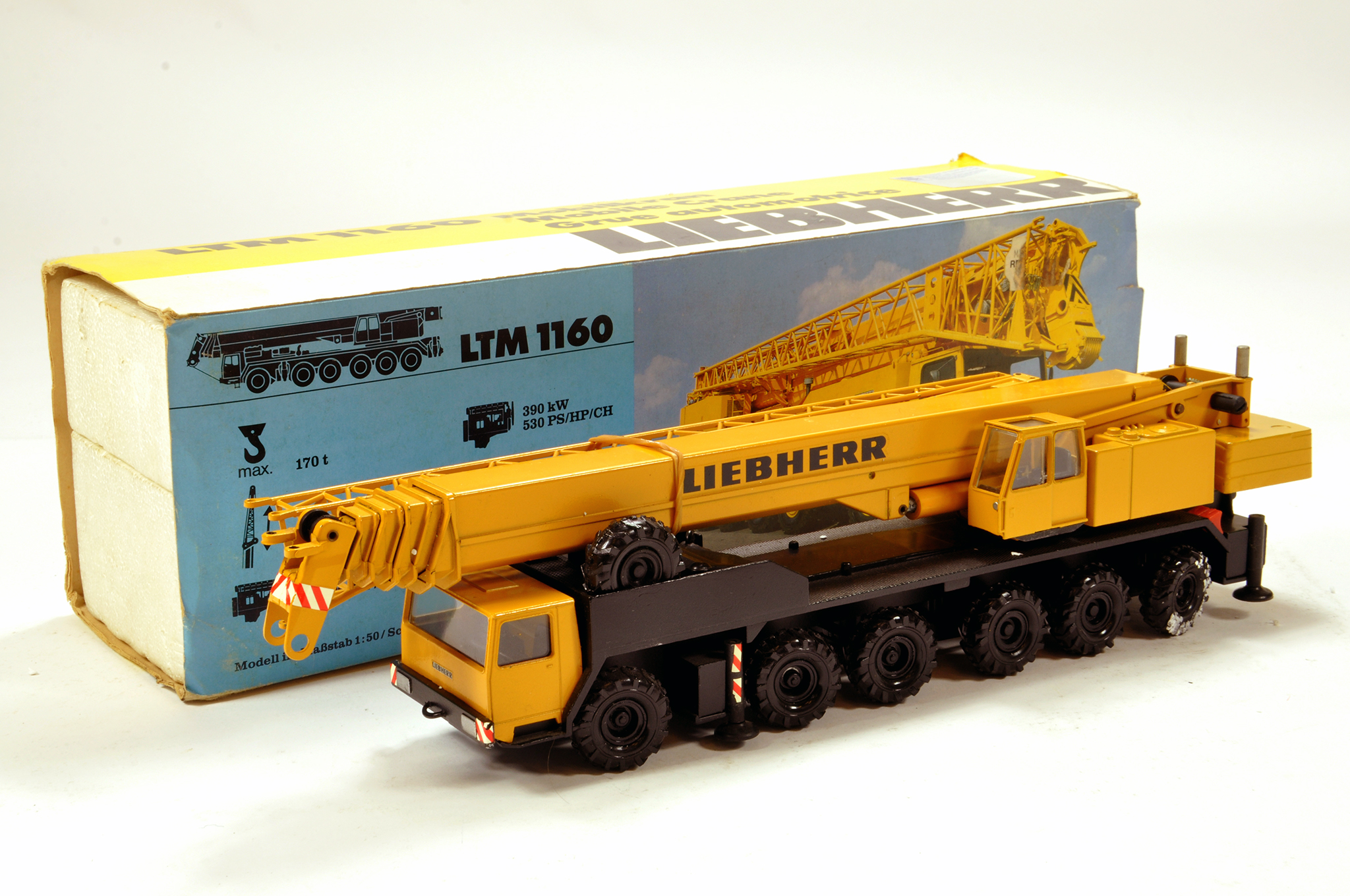 Lot 345 - Conrad 1/50 construction issue comprising Liebherr LTM1160 Mobile Crane. E to NM.