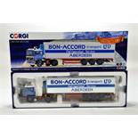 Corgi 1/50 diecast truck issue comprising No. CC15509 Volvo F12 Fridge Trailer in livery of Bon
