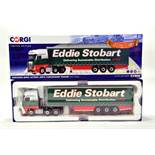 Corgi 1/50 diecast truck issue comprising No. CC15802 Mercedes Actros Curtainside Trailer in