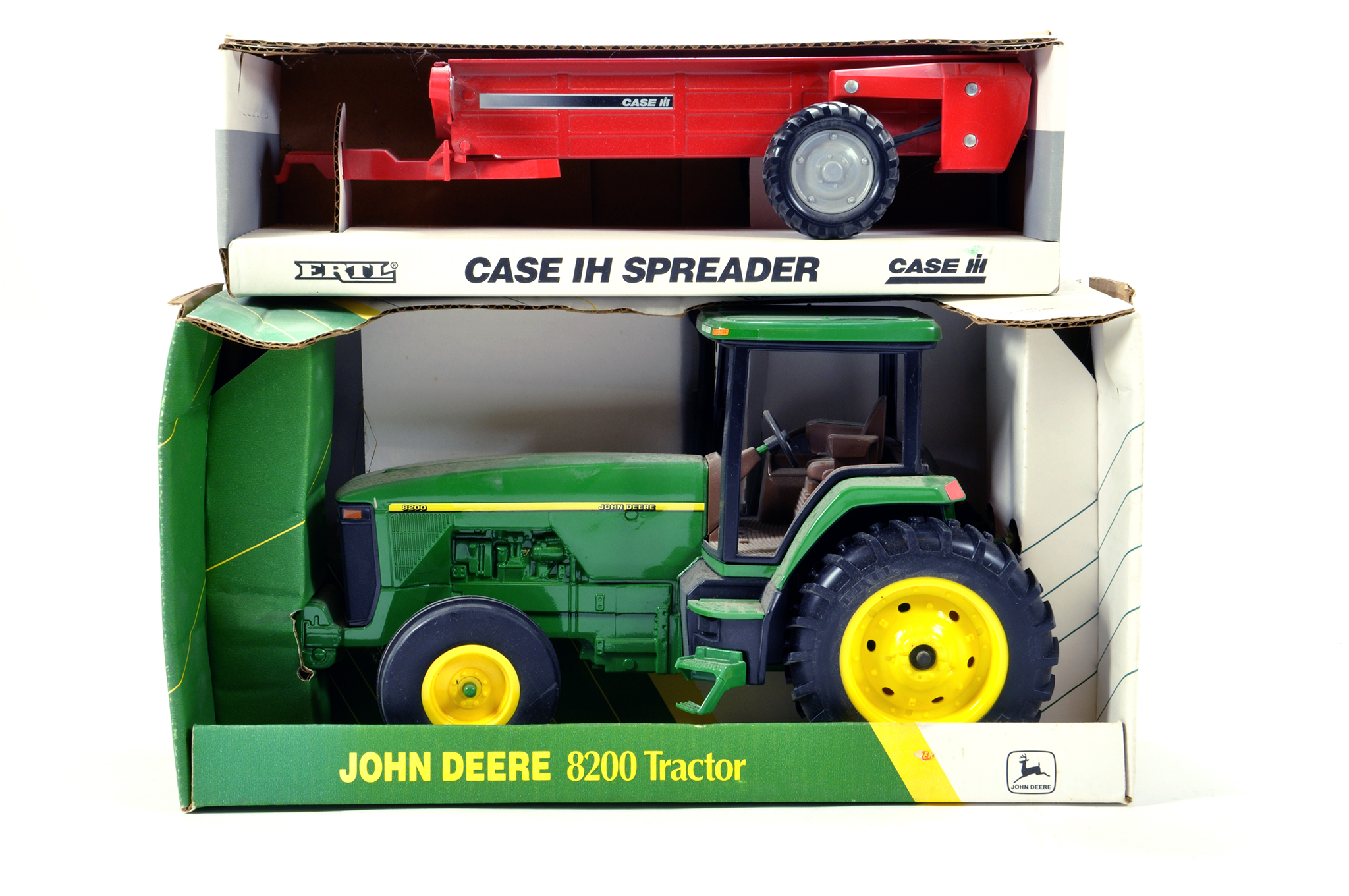 Lot 226 - Ertl 1/16 Farm issues comprising John Deere 8200 and one other. Generally E to NM. (2)