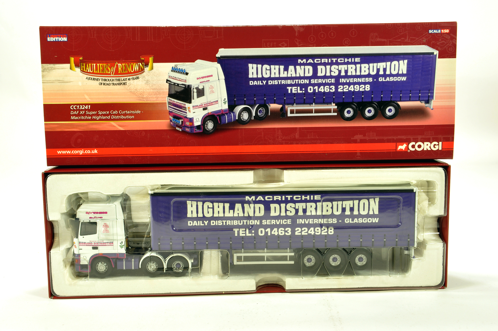 Corgi 1/50 diecast truck issue comprising No. CC13241 DAF XF Super Space Cab in livery of