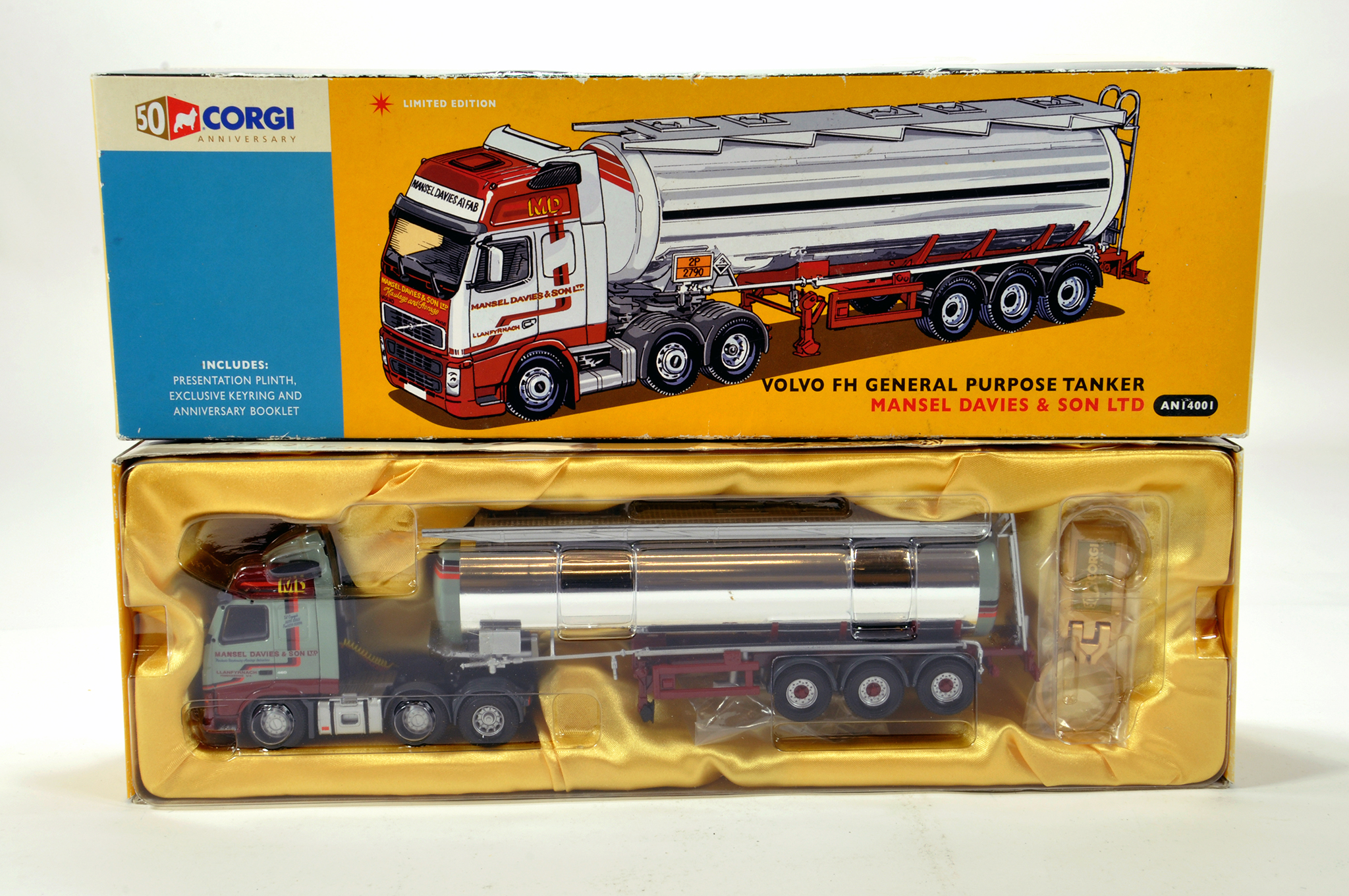 Lot 51 - Corgi 1/50 diecast truck issue comprising No. AN14001 Volvo FH General Purpose Tanker in livery of