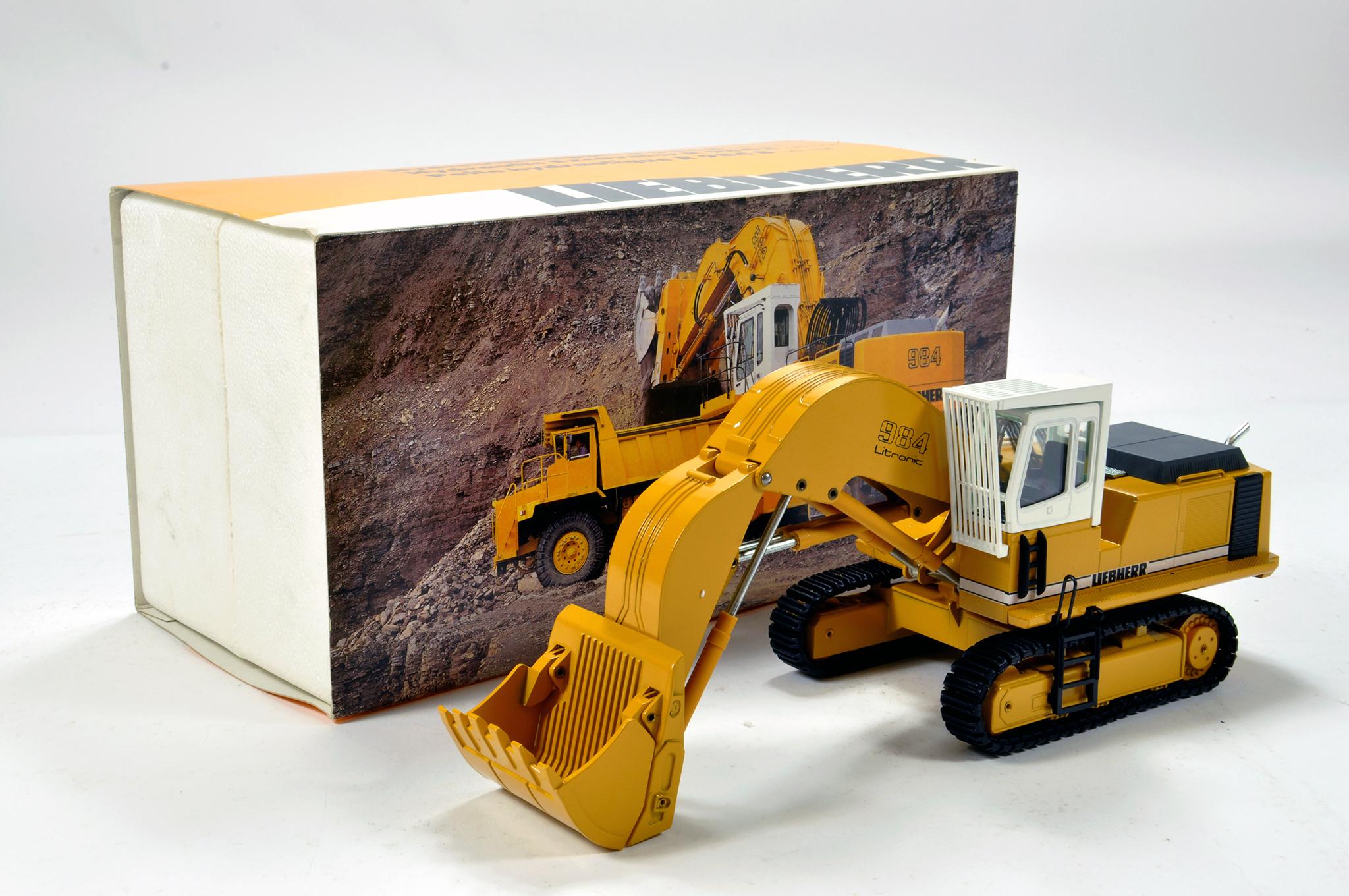 Lot 354 - Conrad 1/50 construction issue comprising Liebherr 984 Litronic Excavator. E to NM.
