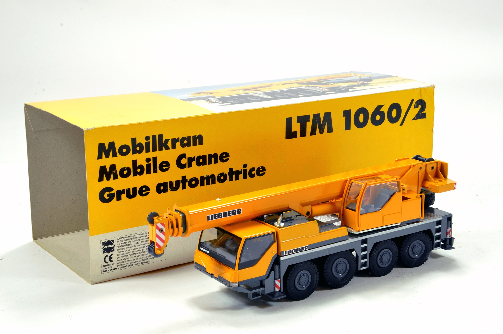 Lot 344 - Conrad 1/50 construction issue comprising Liebherr LTM1060/2 Mobile Crane. E to NM.
