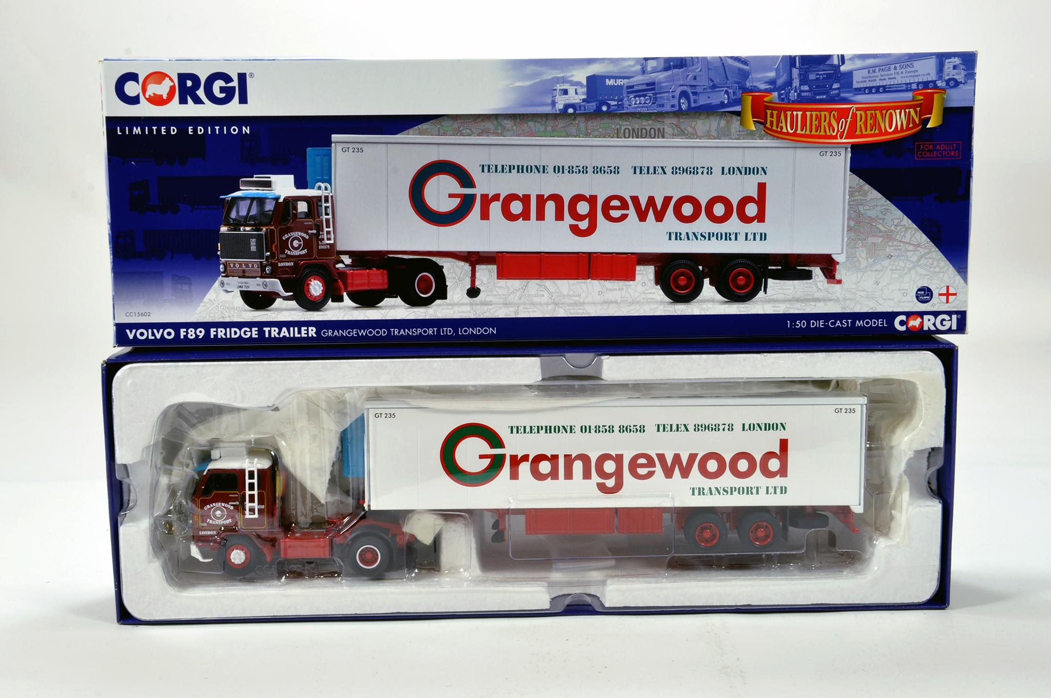 Lot 43 - Corgi 1/50 diecast truck issue comprising No. CC15602 Volvo F89 Fridge Trailer in livery of