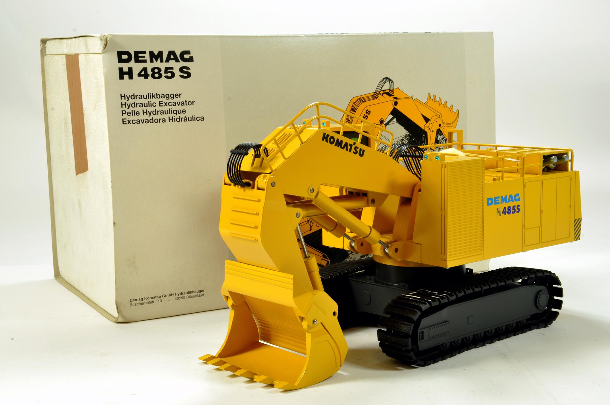 Lot 306 - NZG 1/50 construction issue comprising No. 357 Komatsu DEMAG 485S Hydraulic Excavator. Generally E