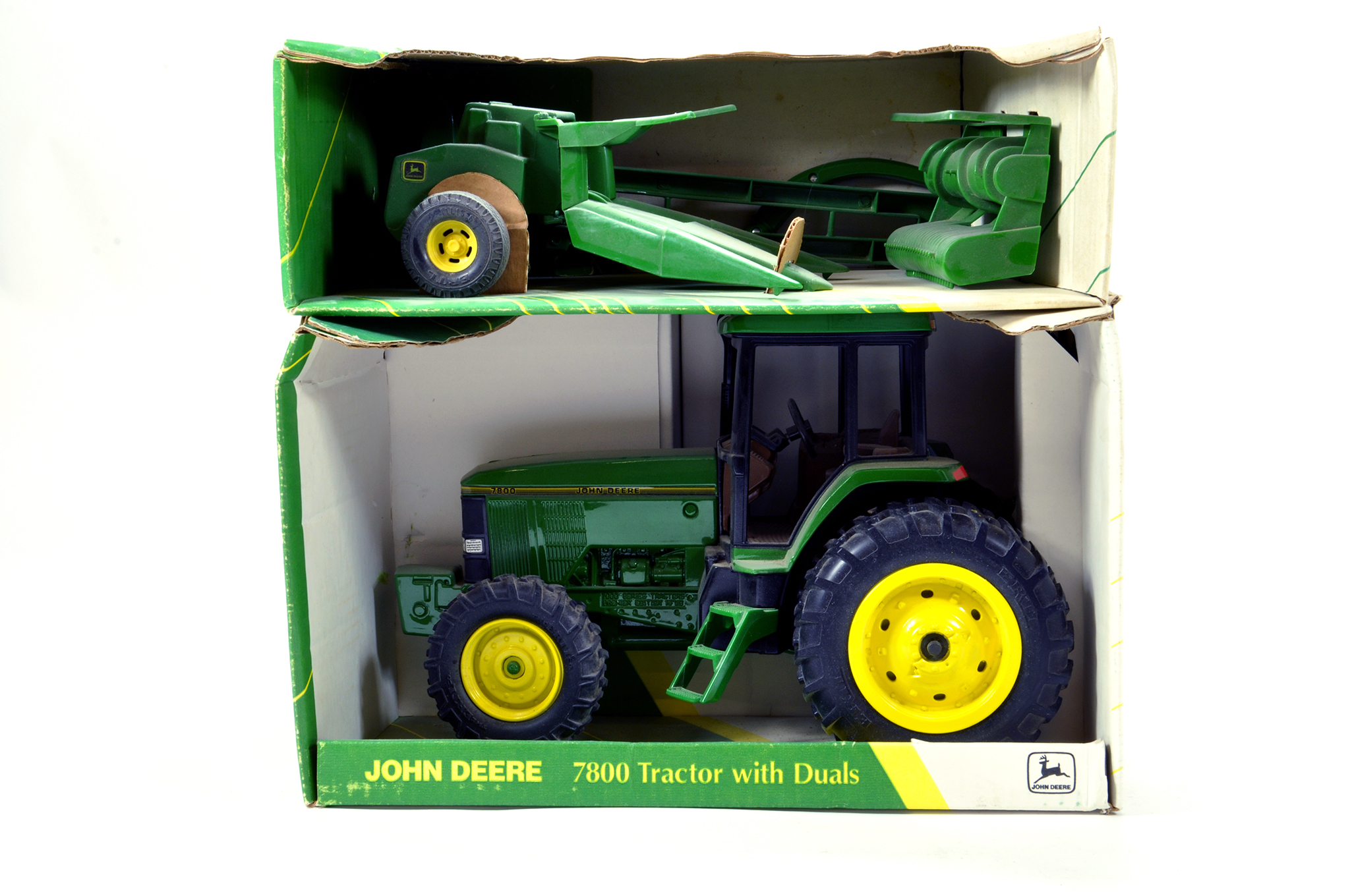 Lot 225 - Ertl 1/16 Farm issues comprising John Deere 7800 and one other. Generally E to NM. (2)