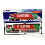 Corgi 1/50 diecast truck issue comprising No. CC15812 Mercedes Benz Actros Curtainside in livery