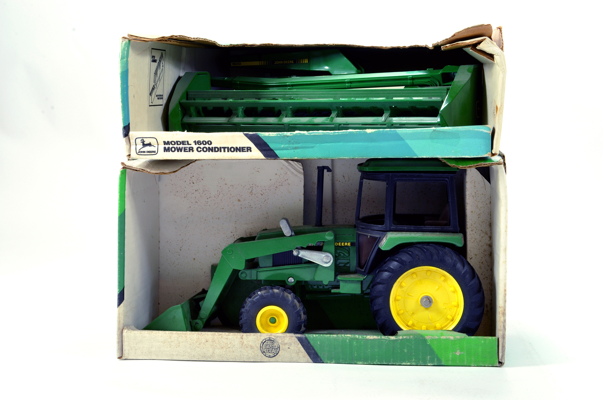 Lot 227 - Ertl 1/16 Farm issues comprising John Deere tractor and one other. Generally E to NM. (2)