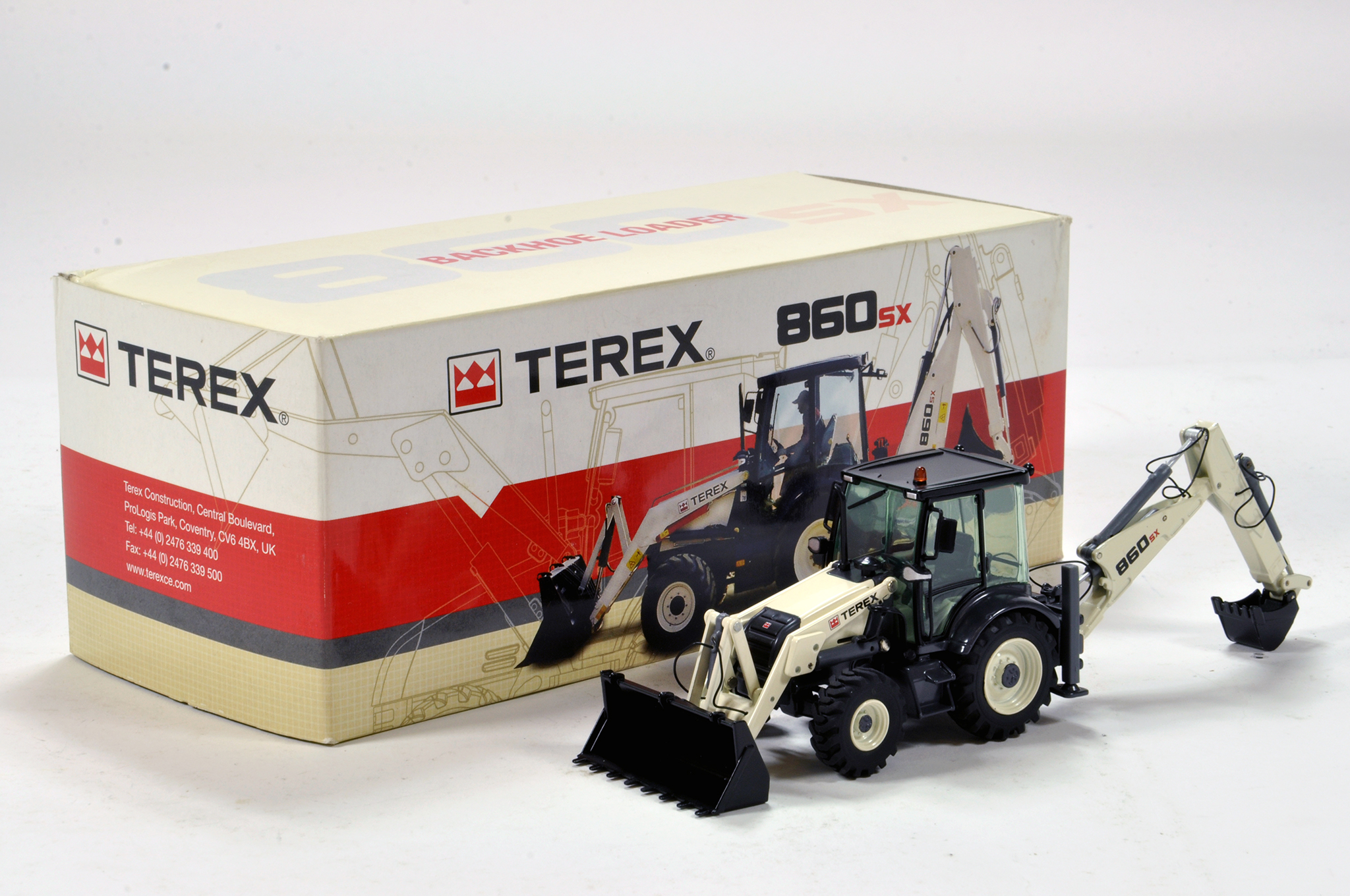 Lot 505 - NZG 1/50 Construction issue comprising Terex 860 Backhoe. E to NM in Box.