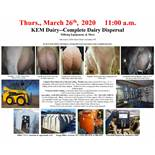 COMPLETE DAIRY HERD, GEHL SKIDSTEER, GMC PICKUP AND MORE!