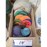 LOT OF +/- 40 ASSORTED GRINDING/POLISHING PADS
