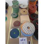 """LOT OF (191) ASSORTED 4"""" GRINDING/POLISHING PADS *SEE PICTURES FOR COMPLETE QUANTITY PER GRIT*"""