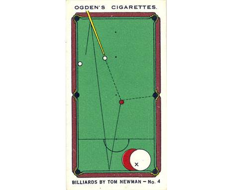 TOP QUALITY SNOOKER POOL CARD!!! OGDENS-TRICK BILLIARDS-#22